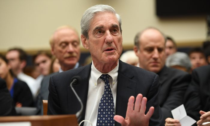 Former special counsel Robert Mueller testifies before Congress in Washington, on July 24, 2019. (Saul Loeb/AFP/Getty Images)