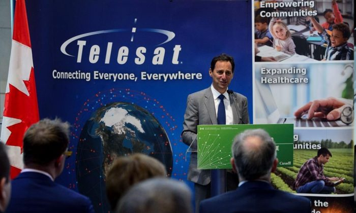 President and CEO of Telesat Dan Goldberg takes part in a press conference in Ottawa on July 24, 2019. (Sean Kilpatrick/The Canadian Press)
