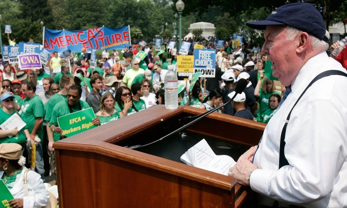 AFL-CIO President John Sweeney during an AFL-CIO rally on Capitol Hill on June 19, 2007.    (Alex Wong/Getty Images)
