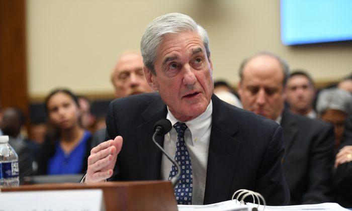 Former Special Prosecutor Robert Mueller testifies before Congress in Washington on July 24, 2019. (Saul Loeb/AFP/Getty Images)
