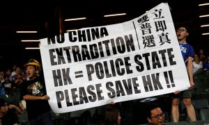 Hong Kong Anti-Government Protests Spill Into Manchester City Game