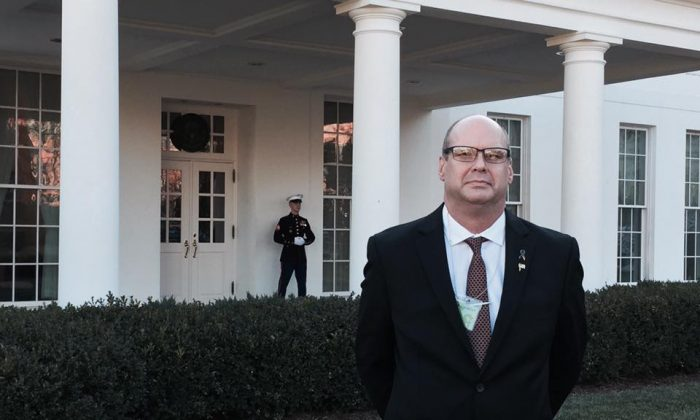 Angel Dad Steve Ronnebeck on a visit to the White House on Jan. 27, 2017. (Courtesy Steve Ronnebeck)