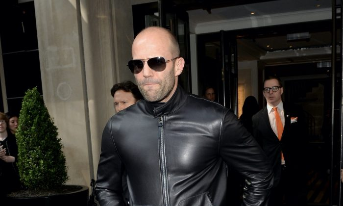 "Actor Jason Statham leaves from The Mark Hotel for the 2016 ""Manus x Machina: Fashion in an Age of Technology"" Met Gala on May 2, 2016 in New York City. (Andrew Toth/Getty Images for Mark Hotel)"