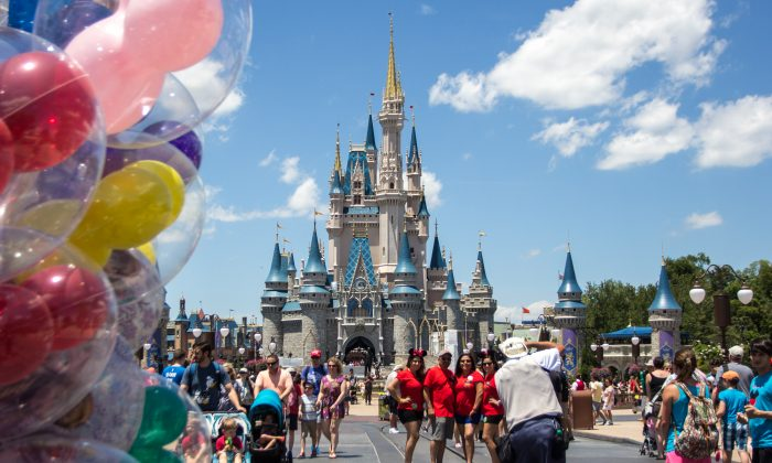 The Cinderella Castle at Disney's Magic Kingdom in Orlando, Fla., on May 22, 2016. (Benjamin Chasteen/Epoch Times)