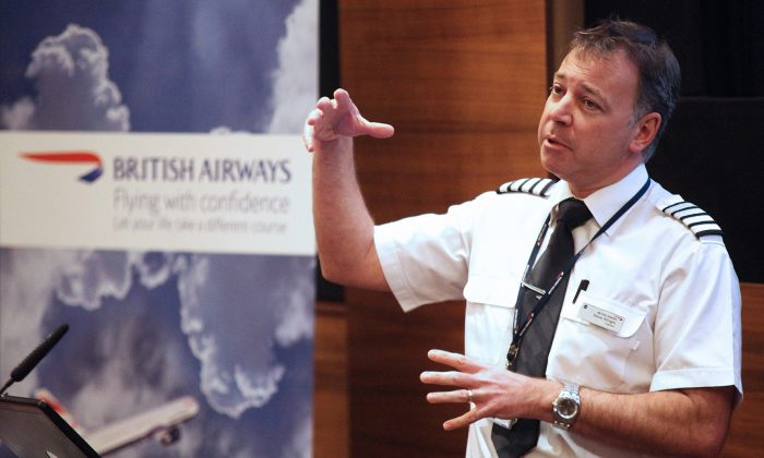 Captain Steve Allright has run the British Airways' Flying with Confidence courses for 24 years.(Courtesy of British Airways)