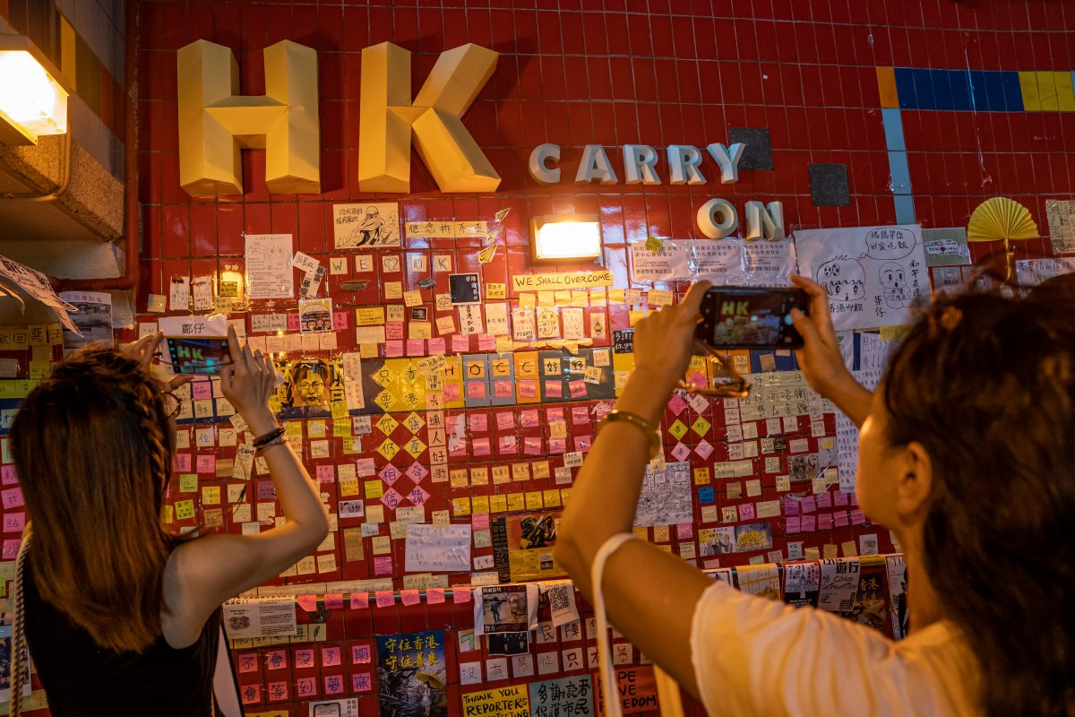 """Lennon Wall"" Spring Up Across Hong Kong"