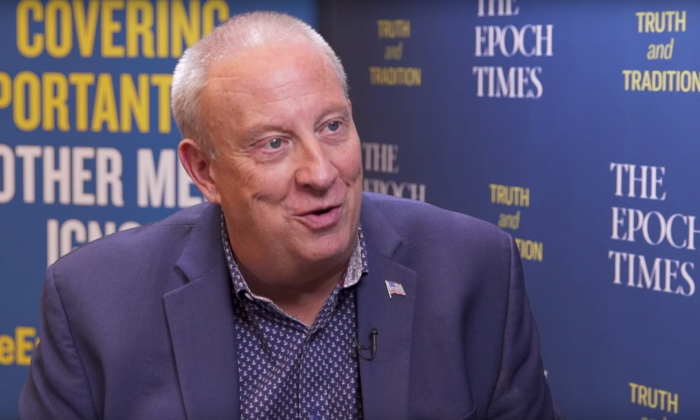 Radio host Mike Gallagher speaks with The Epoch Times Editor-in-Chief Jasper Fakkert on July 24, 2019. (The Epoch Times)
