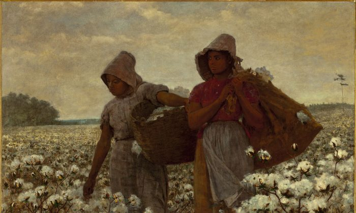 """The Cotton Pickers,"" 1864, by Winslow Homer. (Public Domain)"