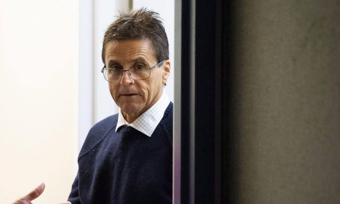 Hassan Diab arrives for a press conference on the French Court of Appeal's decision in his case on Parliament Hill in Ottawa on Oct. 26, 2018. (Justin Tang/The Canadian Press)