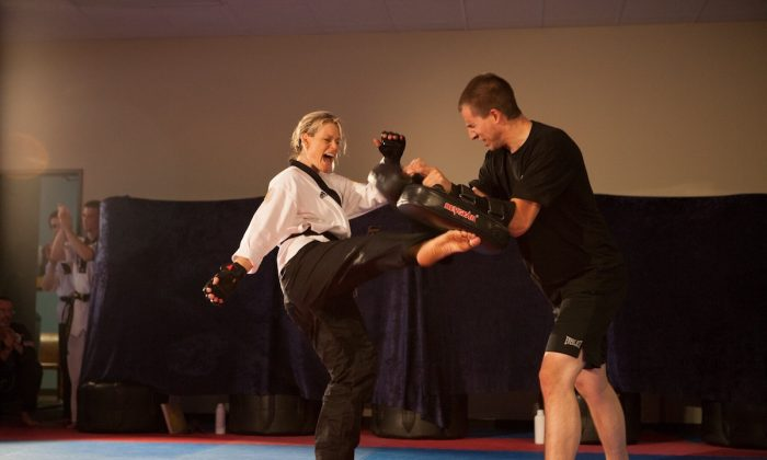 Theresa Byrne is a fourth degree blackbelt who suffered a traumatic brain injury following a car crash. (Courtesy of Paul Minne Photography)