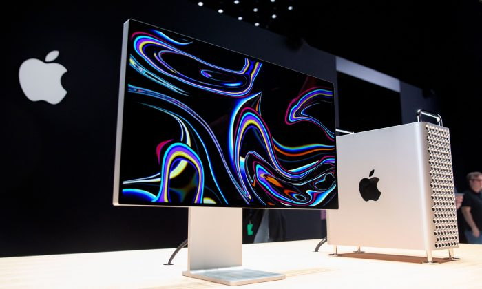 Apple's new Mac Pro sits on display in the showroom during Apple's Worldwide Developer Conference (WWDC) in San Jose, California, U.S. on June 3, 2019. (Brittany Hosea-Small/AFP/Getty Images)