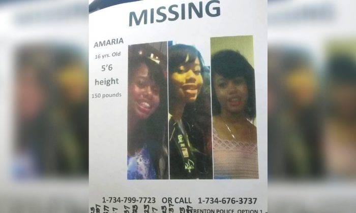 A missing posting seeking for Amaria Hall, a 16-year-old who was last seen July 17, 2019. (Latisha Gyant Counts)