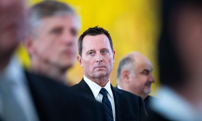 US ambassador to Germany Richard Allen Grenell (C) attends a new year's reception of the German President on January 14, 2019 in Berlin. BERND VON JUTRCZENKA/AFP/Getty Images