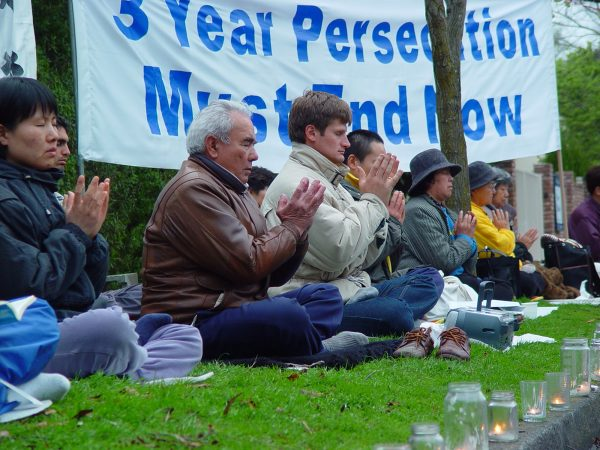 Falun Gong peaceful protest