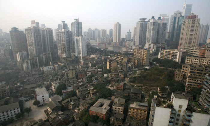 Aerial view of Chongqing Metropolis in China. (China Photos/Getty Images)