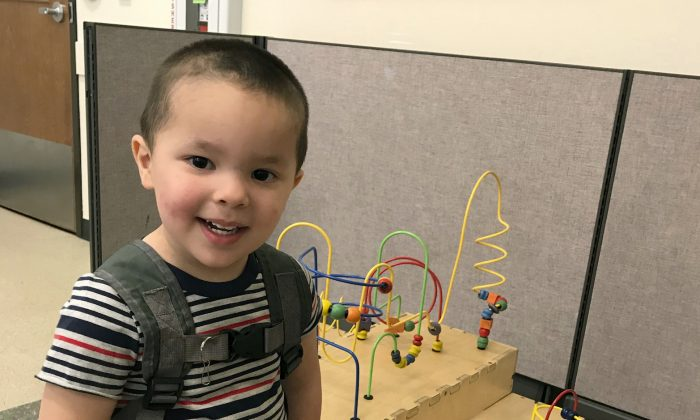 This undated photo provided by the FBI shows 2-year-old Aiden Salcido, who authorities were searching for in Montana. Police in Medford, Oregon, on, July 28, 2019. (FBI via AP)