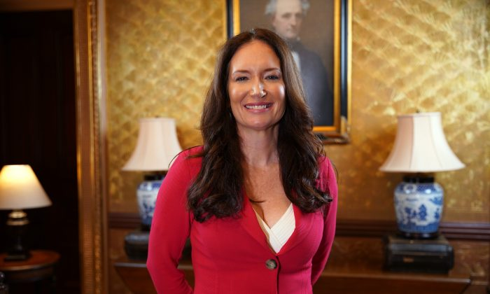 Brooke Rollins, Director of the White House Office of American Innovation, in the Secretary of War Suite at the White House on July 23, 2019. (Blake Wu/NTD)