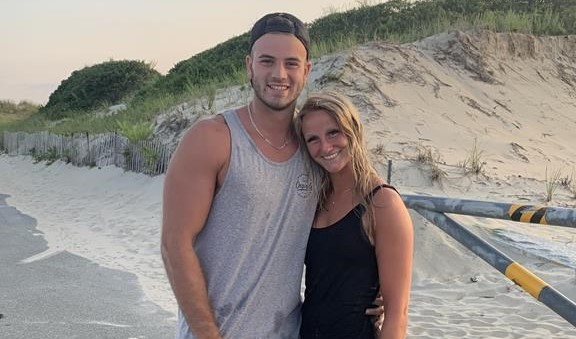 Gabriel Roy poses with his girlfriend Kasandra Rodgers in this handout photo on Horseneck Beach in Westport, Mass. (Westport Police Department/The Canadian Press)