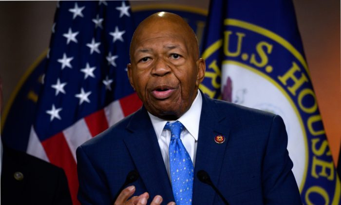 Rep. Elijah Cummings (D-Md.) and Chairman of the House Oversight and Reform Committee in Washington on July 24, 2019. (Andrew Caballero-Reynolds/AFP/Getty Images)