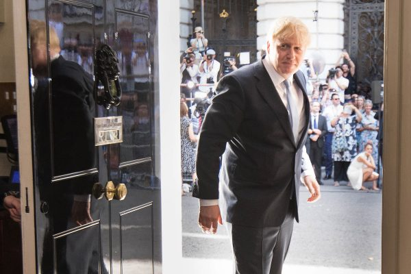 Boris Johnson arrives in 10 Downing Street