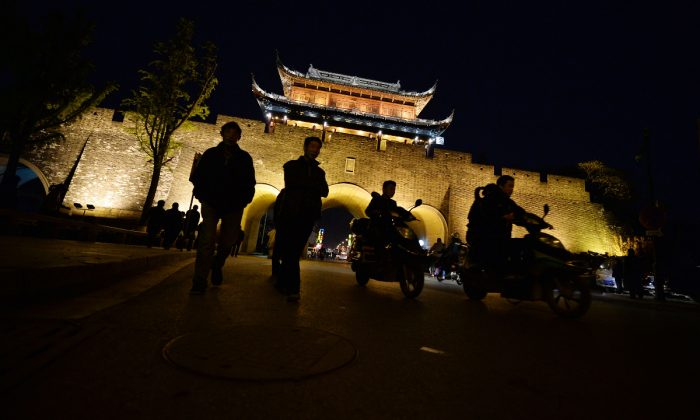 A night out in Jiangsu Province, China. (Mark Ralston/AFP/Getty Images)