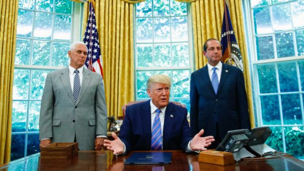 President Trump and Alex Azar