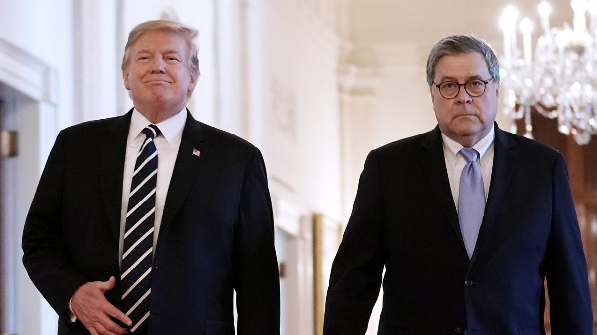 Trump Acknowledges That He Makes AG Barr's Job Harder