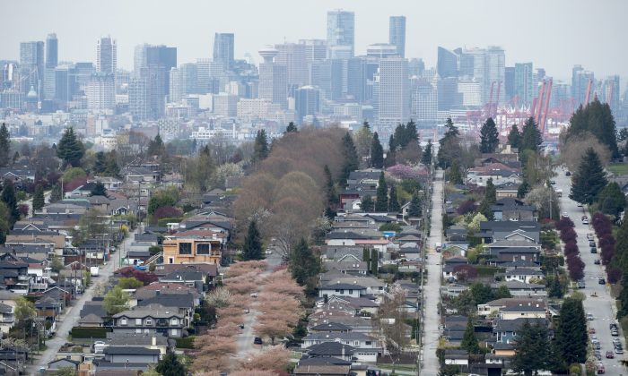 Homes are pictured in Vancouver on Apr. 16, 2019. Even as the city's housing market undergoes a steep decline in activity, it remains unaffordable and continues to be in bubble territory. (The Canadian Press/Jonathan Hayward)