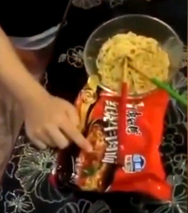 boy meat noodles sad