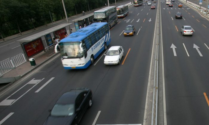 Cars and buses in China. (China Photos/Getty Images)
