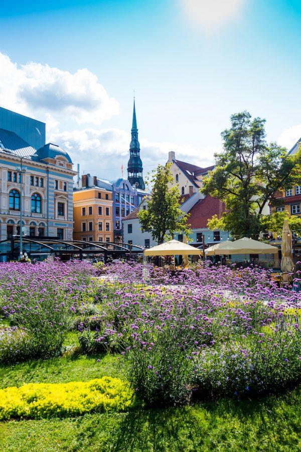 downtown Riga city, Latvia