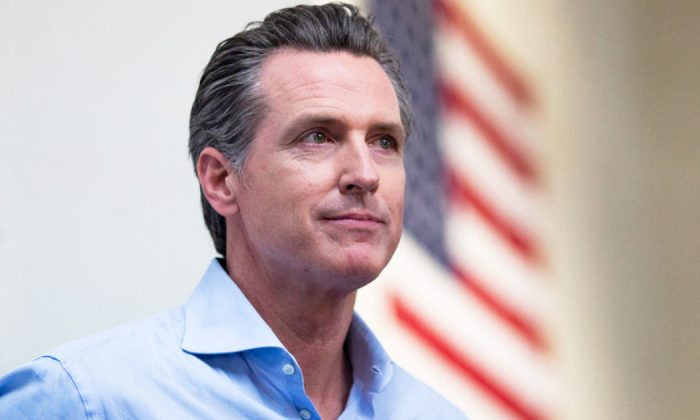 California Lt. Governor Gavin Newsom, a Democratic candidate for California Governor waits to speak during a campaign event for Democratic candidate for California's 10th Congressional District Josh Harder on Nov. 5, 2018, in Modesto, California. (Alex Edelman/Getty Images)