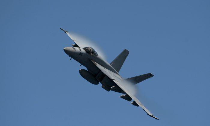 A U.S. Navy F/A-18E Super Hornet jet. (MC2 James R. Evans/U.S. Navy)