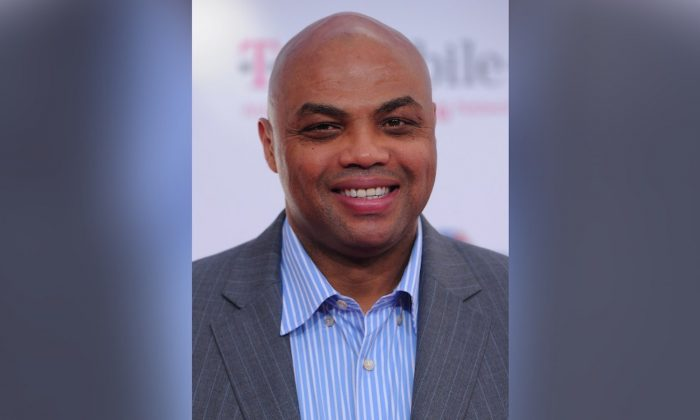Former NBA player Charles Barkley arrives to the T-Mobile Magenta Carpet at the 2011 NBA All-Star Game in Los Angeles, California, on Feb. 20, 2011. (Alberto E. Rodriguez/Getty Images)