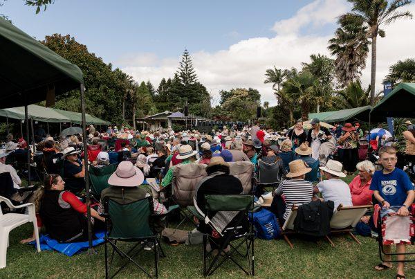Audience in garden
