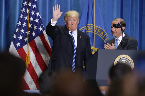 President Trump Discusses Drug Pricing At Health And Human Resources Department