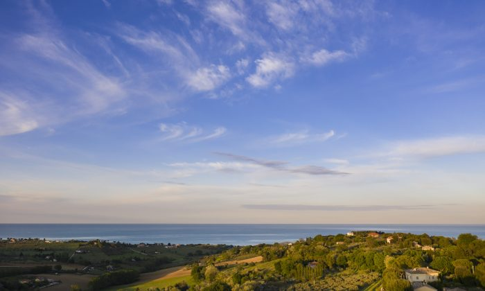 Many hilltop vagtage points, like this one from Civitanova, offer postcard-worthy views reaching the Adriatic. (Courtesy of Villa Olivo)
