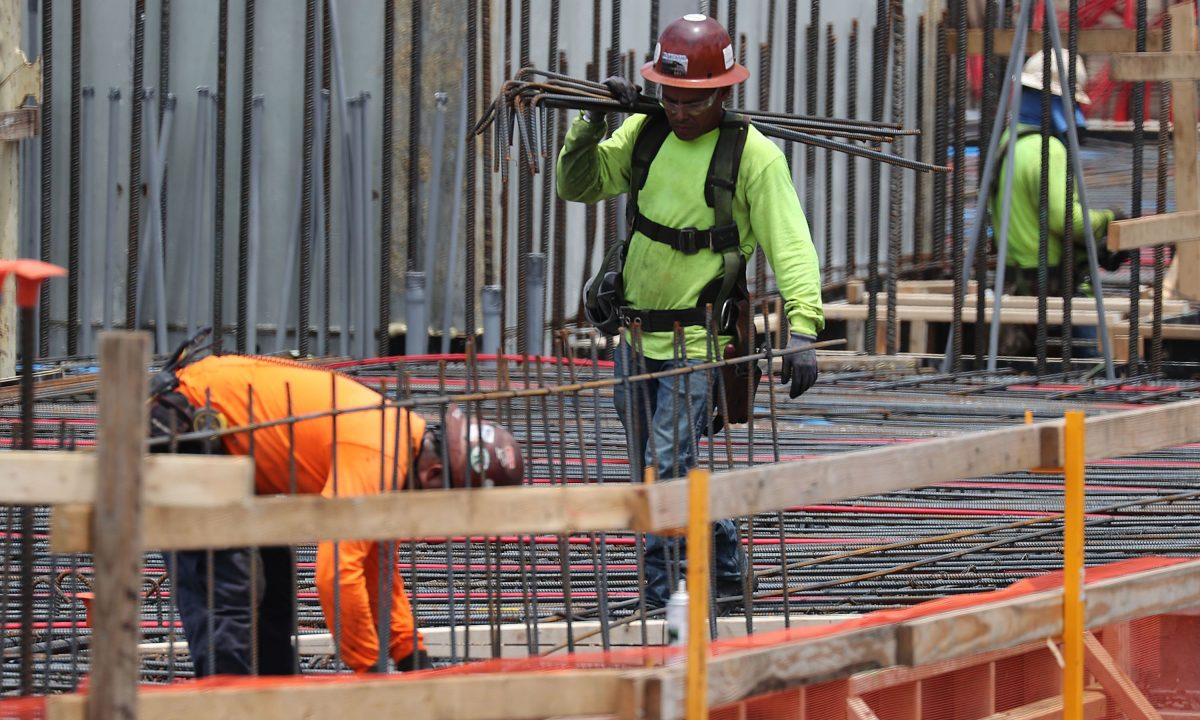 Construction workers in Fort Lauderdale