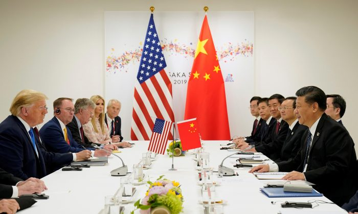 President Donald Trump attends a bilateral meeting with China's leader Xi Jinping during the G20 leaders summit in Osaka, Japan, June 29, 2019. (ReutersKevin Lamarque/File Photo)