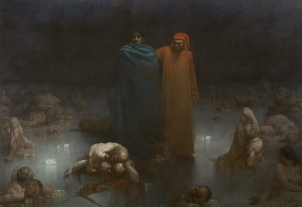"""""""Dante and Virgil in the Ninth Circle of Hell"""