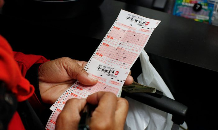 A lottery ticket in a file photograph. (Kena Betancur/AFP/Getty Images)