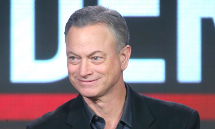 "Actor Gary Sinise speaks onstage during the ""Criminal Minds: Beyond Borders"" panel discussion at the CBS/ShowtimeTelevision Group portion of the 2015 Winter TCA Tour in Pasadena, Calif., on Jan. 12, 2016. (Frederick M. Brown/Getty Images)"