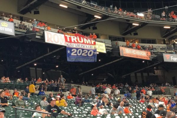 Trump flag at Baltimore game