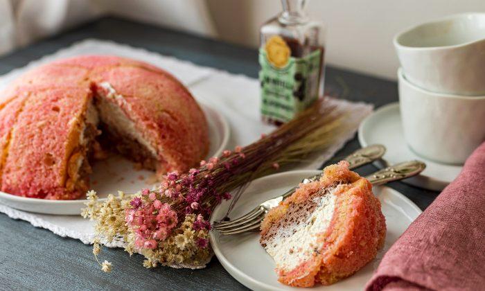 Zuccotto, with a two-layer ricotta cream filling. (Giulia Scarpaleggia)