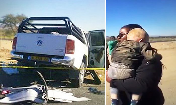 Woman Spots Baby Boy Ejected From Deadly Car Wreck and Leaps In to