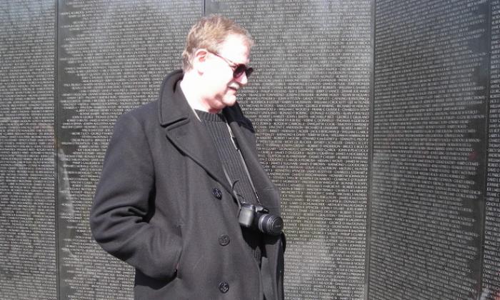 Author Marc Yablonka at the Vietnam Veteran's Memorial Wall in Washington. (Courtesy Marc Yablonka)