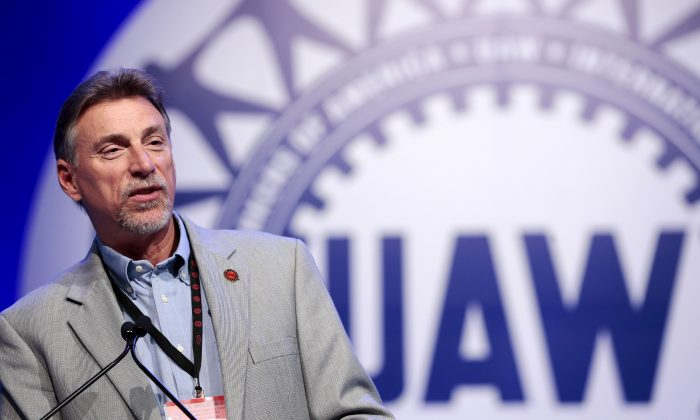 UAW Vice President Norwood Jewell addresses their Special Bargaining Convention held at COBO Hall in Detroit, Mich., March 25, 2015. (Reuters/Jeff Kowalsky)