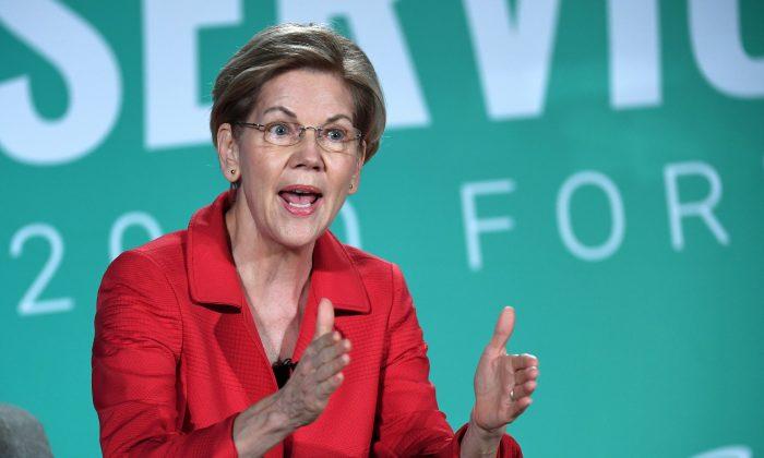 Democratic presidential candidate, Sen. Elizabeth Warren (D-Mass.) in Las Vegas, Nevada, on Aug. 3, 2019. (Ethan Miller/Getty Images)