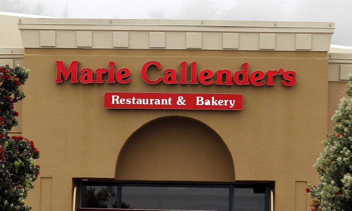 A sign is displayed on the exterior of a Marie Callender's Restaurant and Bakery in Daly City, California, on June 13, 2011. (Justin Sullivan/Getty Images)