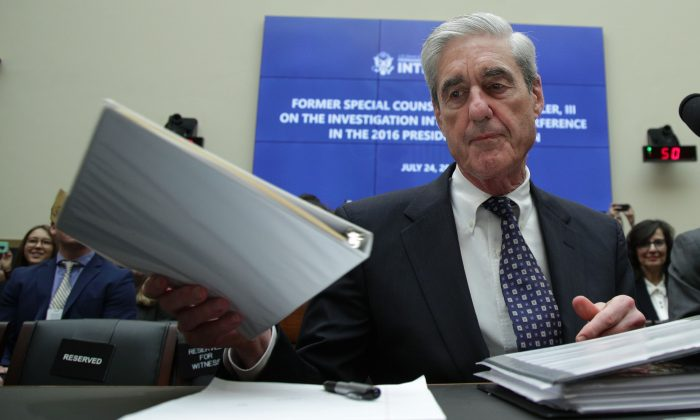Former special counsel Robert Mueller in the Rayburn House Office Building in Washington on July 24, 2019. (Alex Wong/Getty Images)